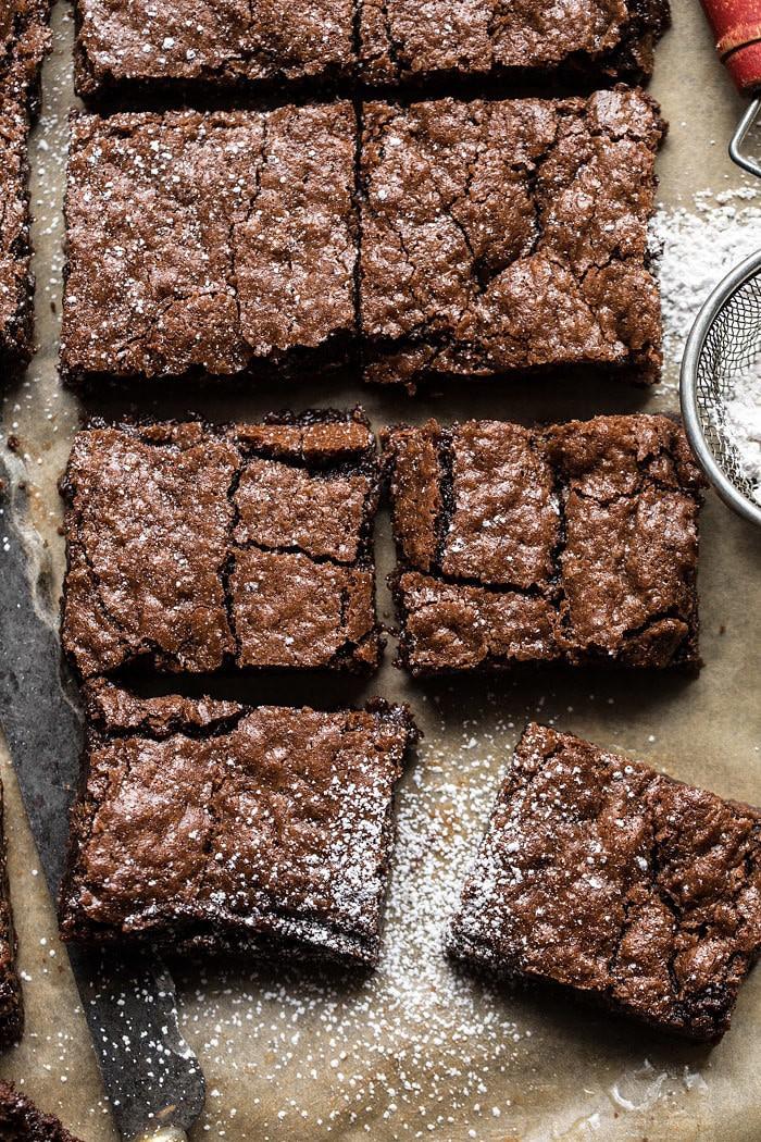 Crinkle Top Brownies | halfbakedharvest.com #brownies #recipes #chocolate