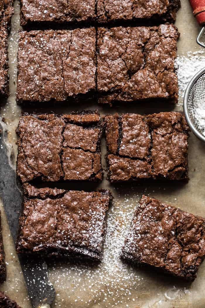 crinkle top brownies half baked harvest
