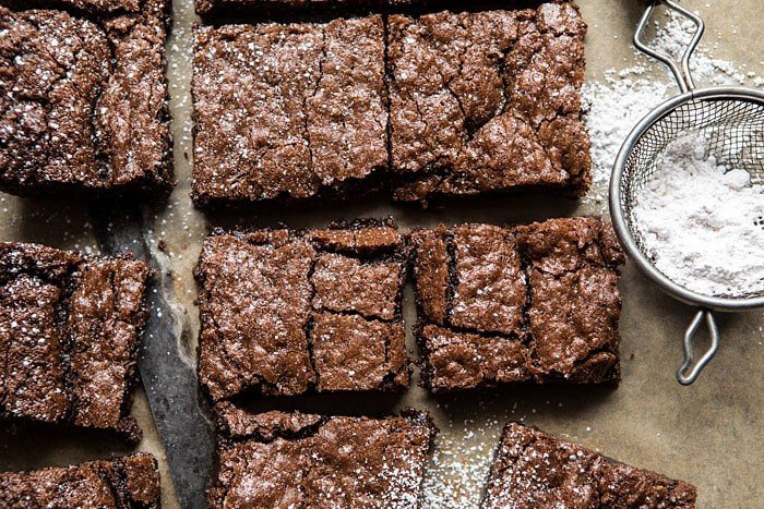 Crinkle Top Brownies | halfbakedharvest.com #brownies #recipes #chocolate