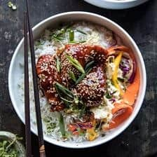Instant Pot Sticky Korean Chicken.