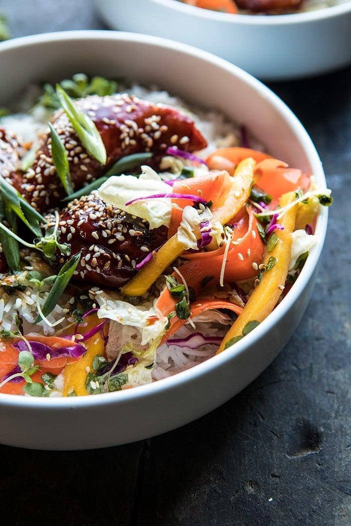 Instant Pot Sticky Korean Chicken | halfbakedharvest.com #instantpot #korean #chicken #dinner #recipes #easy
