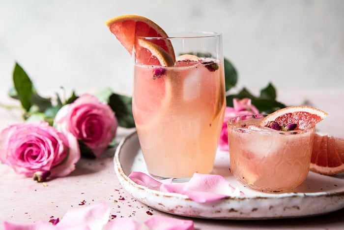 Rose and Ginger Paloma | halfbakedharvest.com #valentinesday #drink #cocktail #recipes