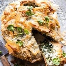 Greek Spinach and Feta Pie (Spanakopita).