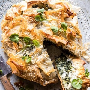 Greek Spinach and Feta Pie (Spanakopita).
