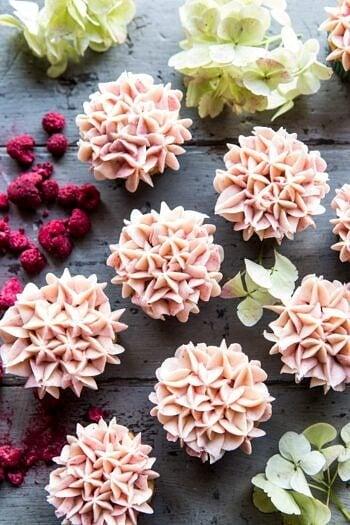 Hydrangea Flower Carrot Cake Cupcakes.