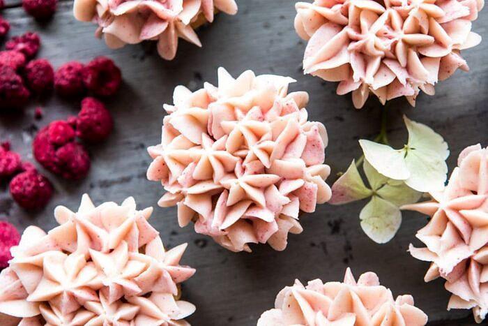 Hydrangea Flower Carrot Cake Cupcakes | halfbakedharvest.com #cupcakes #spring #easter