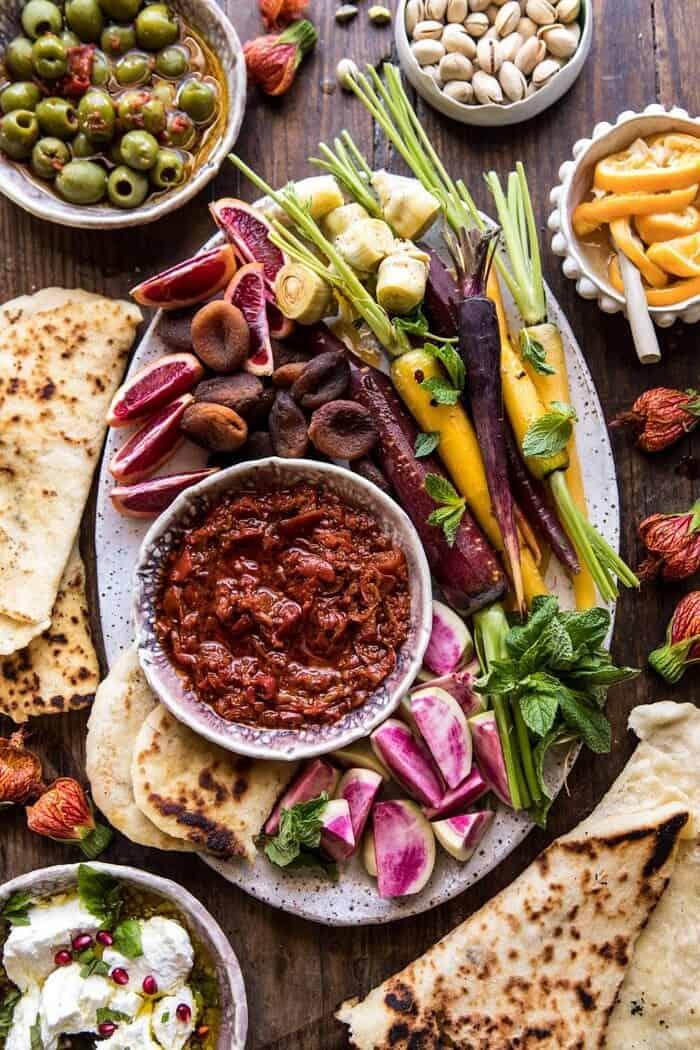 Moroccan Dip Platter | halfbakedharvest.com #spring #easter #recipes #healthy #appetizer