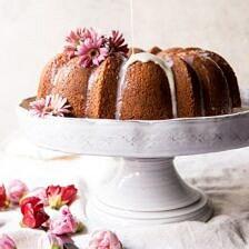 Cream Cheese Swirled Coconut Tres Leches Cake.
