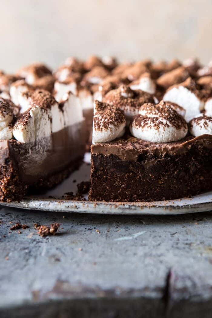 Dark Chocolate Chiffon Pie | halfbakedhavrest.com #chocolate #pie #dessert