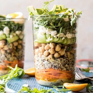 Mediterranean Chickpea and Egg Salad Jars.