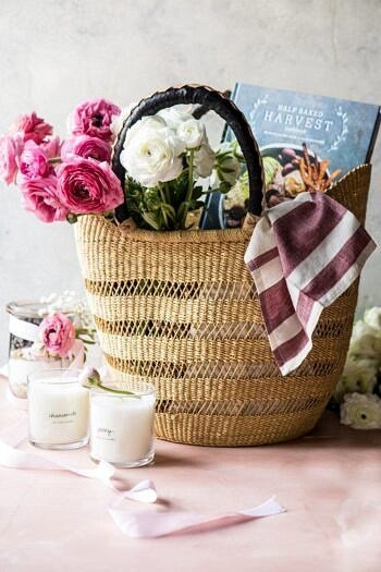 Mother's Day Oatmeal Chocolate Chip Cookie Cookbook Gift Basket | halfbakedharvest.com #mothersday #crafts