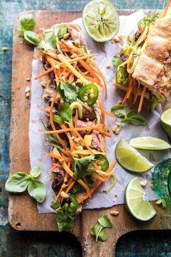 Thai Basil Steak Sandwich | halfbakedharvest.com #Thai #recipes #easy