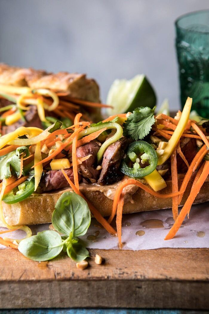 Thai Basil Steak Sandwich | halfbakedharvest.com #Thai #recipes #easy