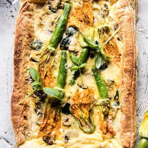 Zucchini, Bacon, and Pecorino Tart.