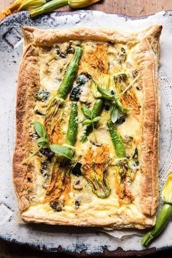 Zucchini, Bacon, and Pecorino Tart | halfbakedhavrest.com #zucchini #spring #summer #brunch