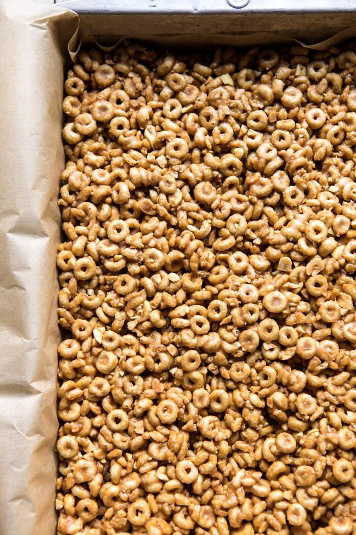 raw prep photo of Peanut Butter and Honey Cheerio Bars