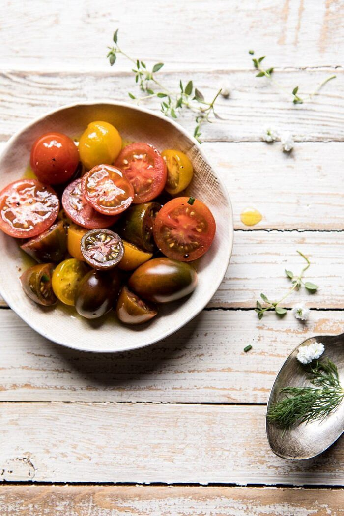 overhead photo of tomatoes
