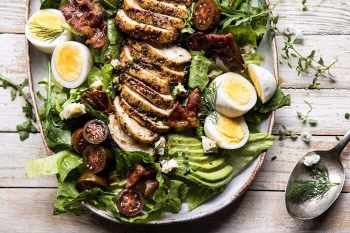 horizontal photo of Balsamic Grilled Chicken Cobb Salad