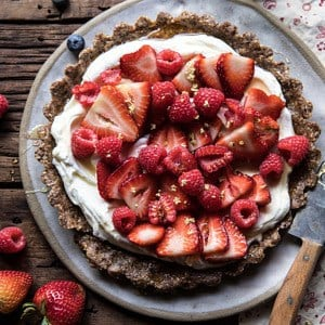 No Bake Greek Yogurt Fruit Tart.