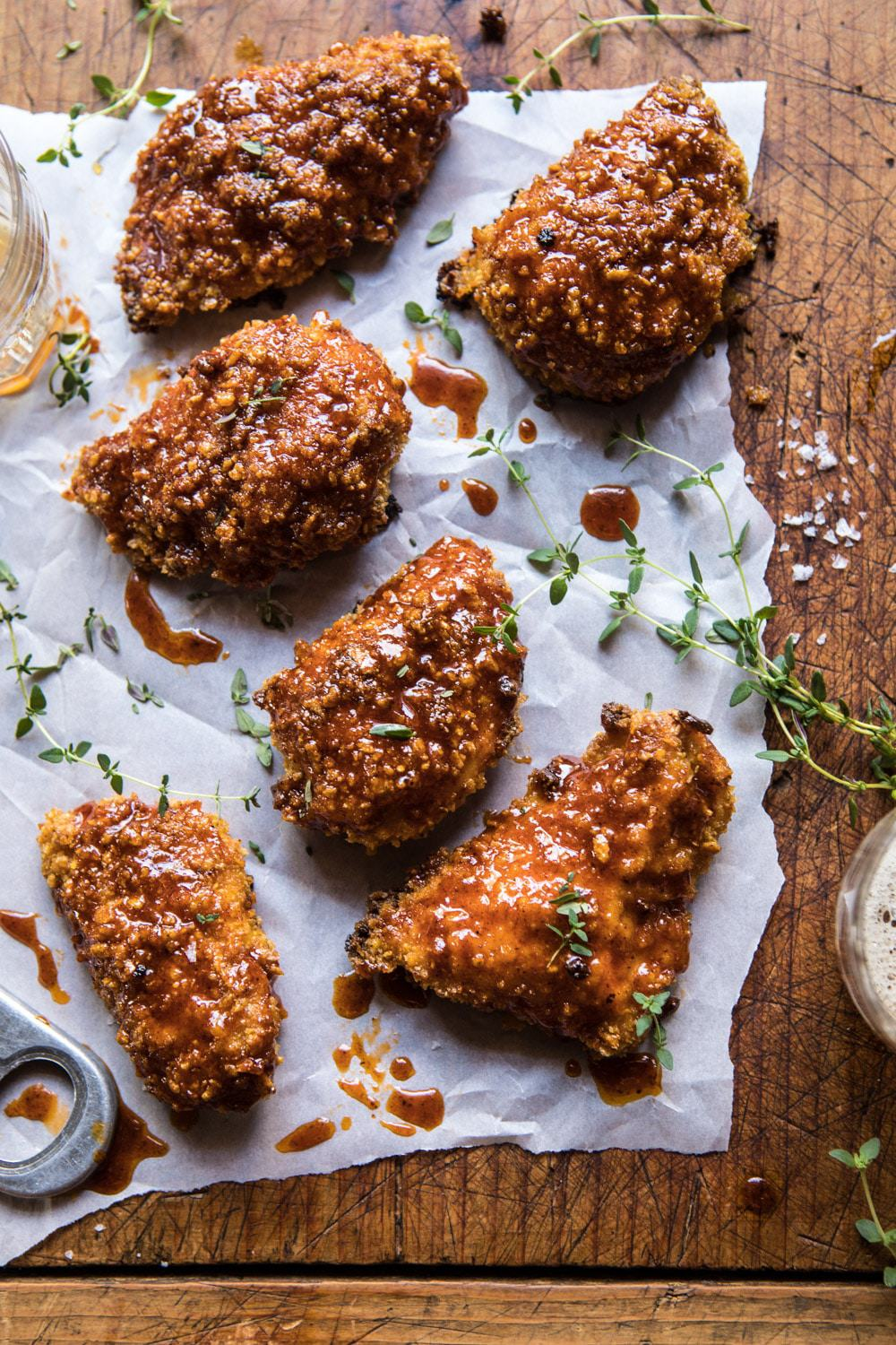 Oven Fried Southern Hot Honey Chicken Half Baked Harvest