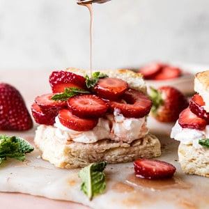 Strawberry Bourbon Shortcakes | halfbakedharvest.com #strawberries #shortcake #spring #summer #easyrecipe