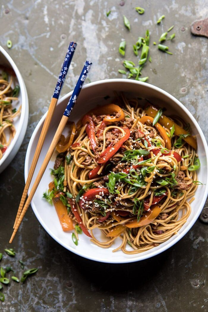 close up photo of Weeknight 20 Minute Spicy Udon Noodles