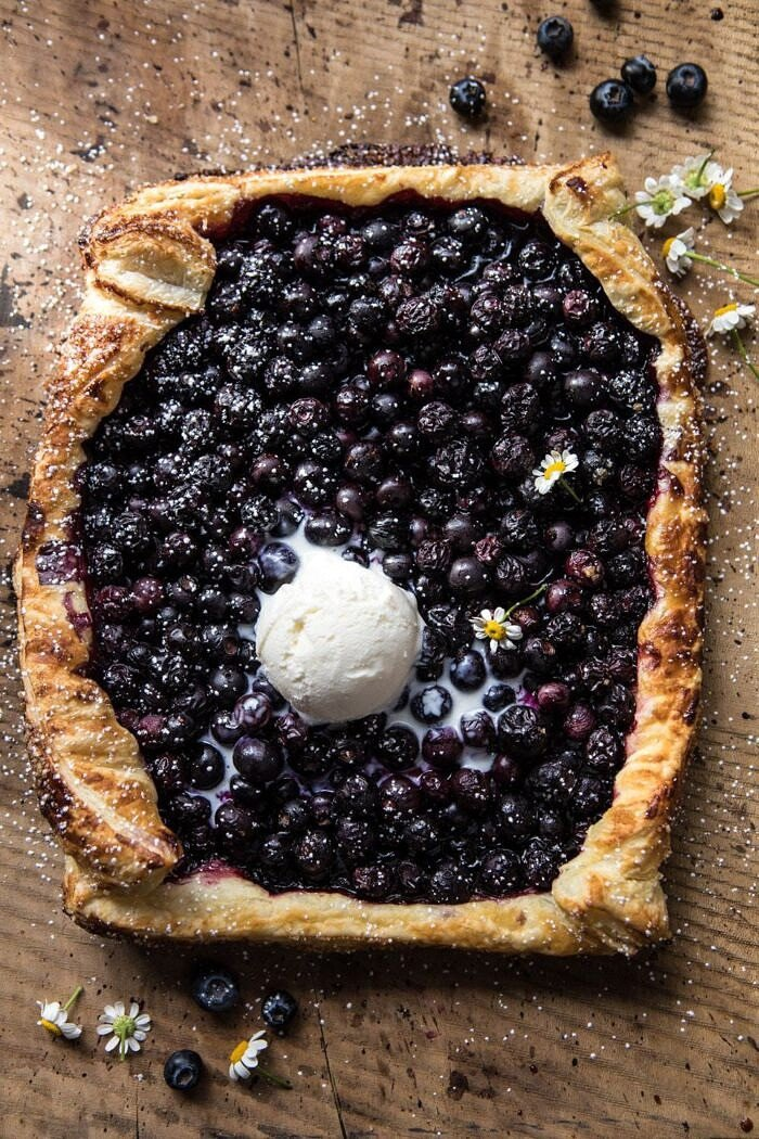 overhead photo of Blueberry Chamomile Galette