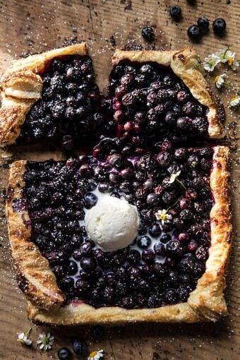 Blueberry Ricotta Chamomile Galette | halfbakedharvest.com #blueberries #summer #easyrecipes
