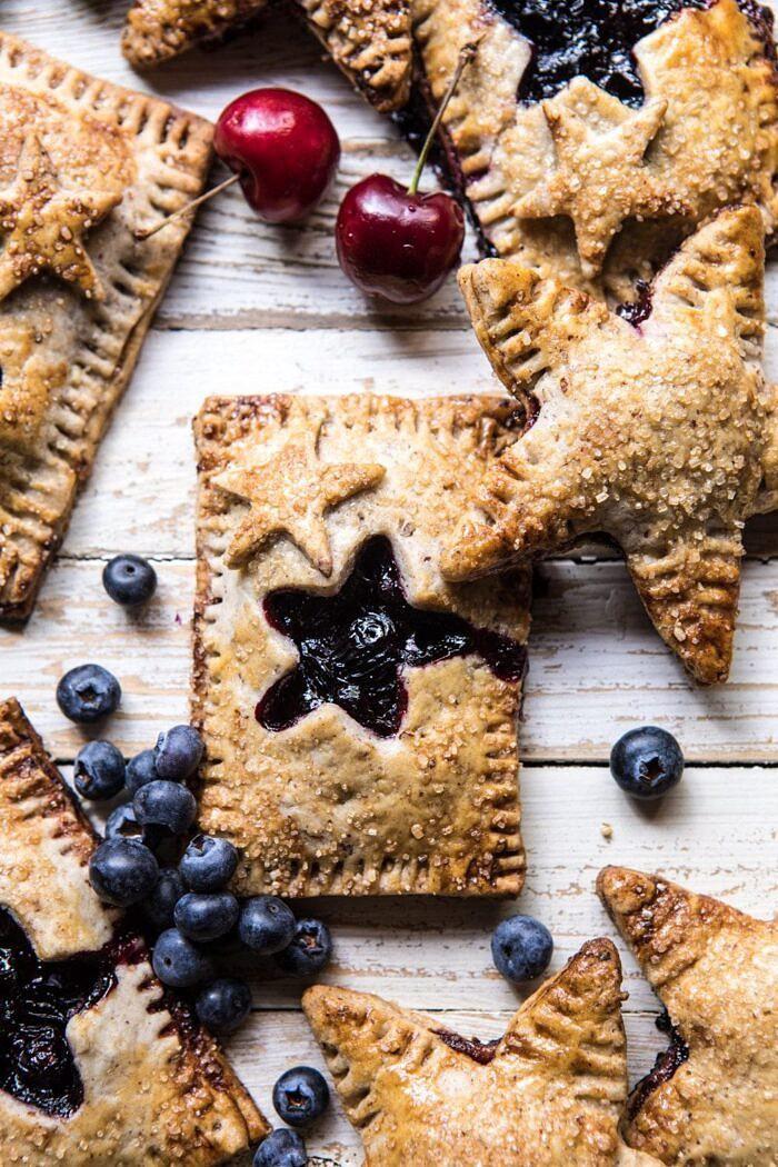 Bourbon Pecan Cherry Hand Pies | halfbakedharvest.com #pie #cherries #4thofjulyrecipes #easy