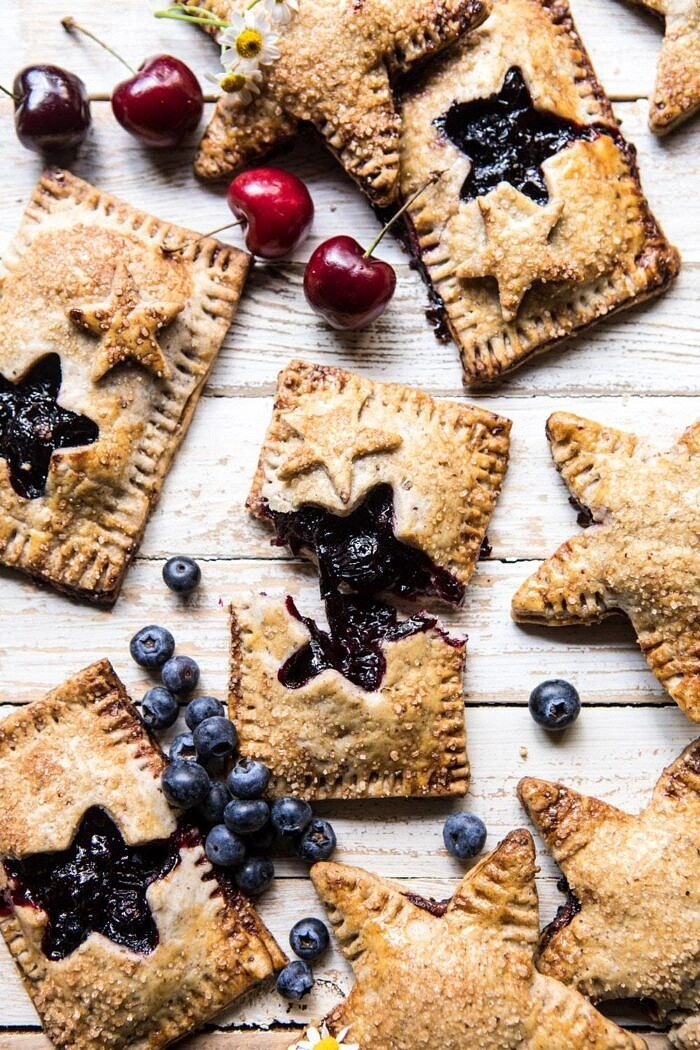 Bourbon Pecan Cherry Hand Pies | halfbakedharvest.com #pie #cherries #4thofjulyrecipes #easy
