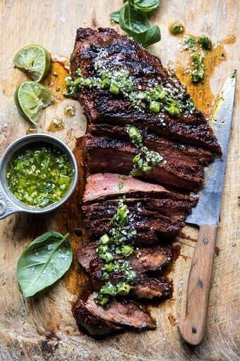 Korean Grilled Steak with Toasted Sesame Chimichurri | halfbakedharvest.com #summergrilling #easyrecipes #dinner #steakrecipes