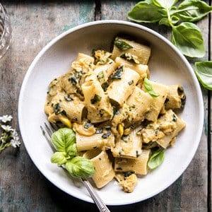 Simplest Zucchini Parmesan Pasta | halfbakedharvest.com #pasta #italian #summerrecipes
