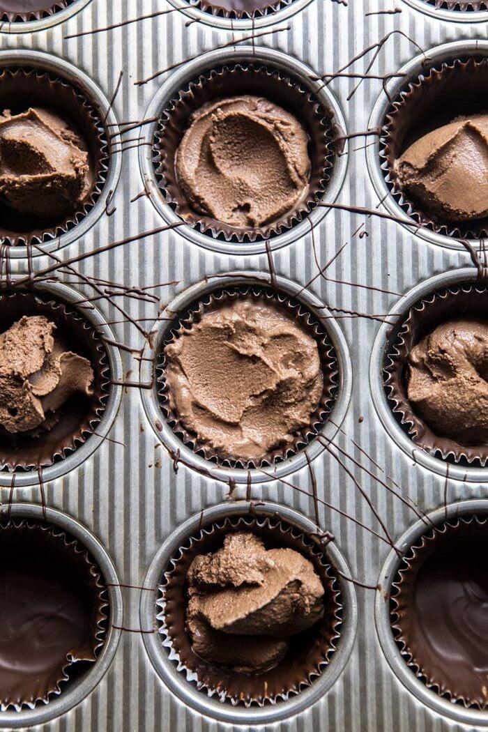 Toasted S'more Chocolate Ice Cream Cups | halfbakedharvest.com #icecream #summerrecipes #smore