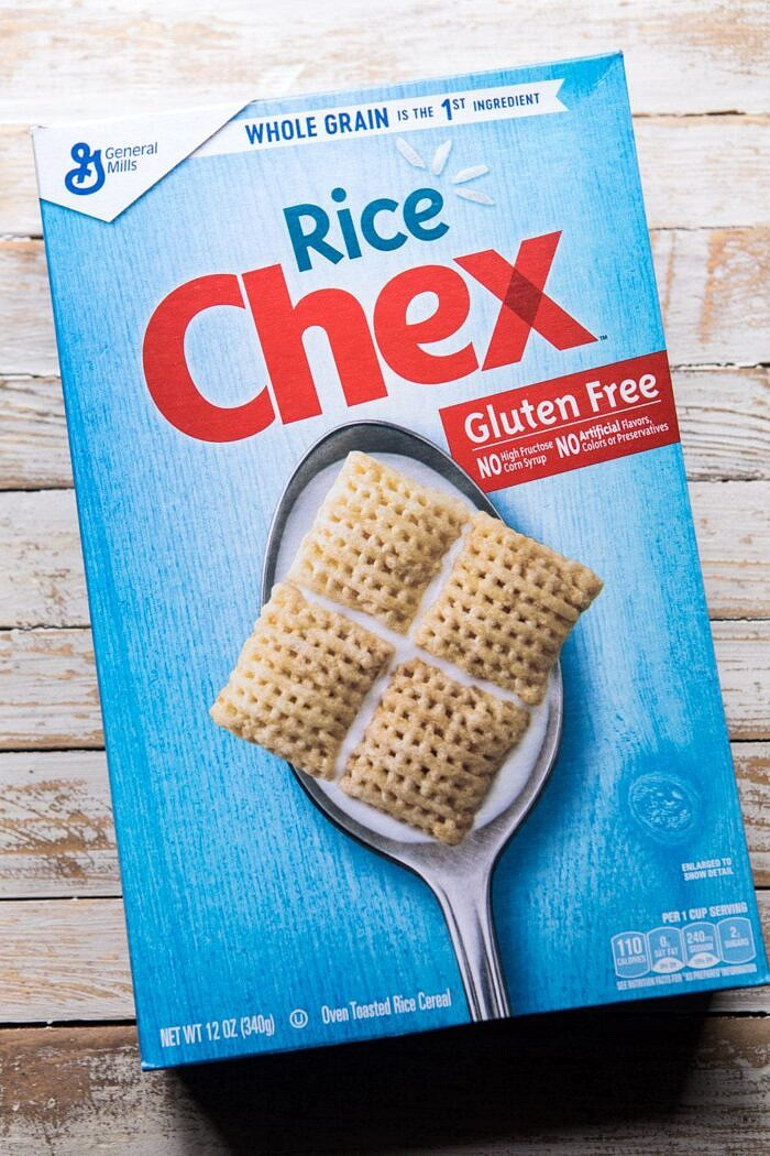 photo of chex cereal box
