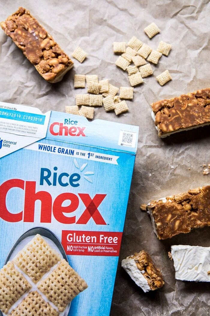 photo of chex cereal box with ice cream bars