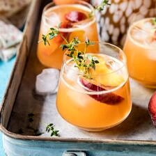 Sweet Bourbon Peach Lemonade.