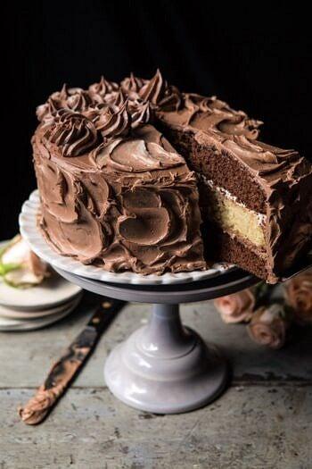 Better Together Chocolate Vanilla Birthday Cake.