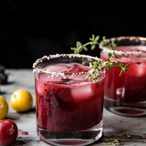 Blackberry Thyme Margarita | halfbakedharvest.com #blackberries #margarita #tequila #summer #easyrecipes