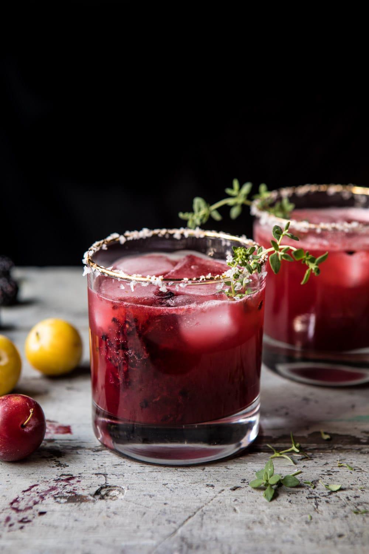 Blackberry Thyme Margarita | halfbakedharvest.com #blackberries #margarita #tequila #summer #easyrecipes