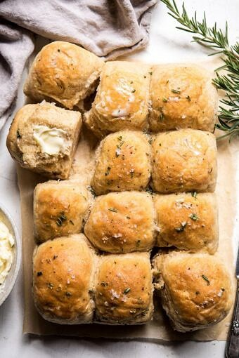 Buttery Pull Apart Whole Wheat Potato Rolls | halfbakedharvest.com #bread #rolls #easyrecipes #backtoschool