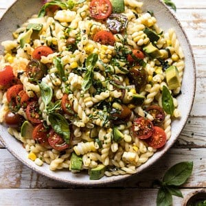 Corn, Tomato, and Avocado Pasta Salad.