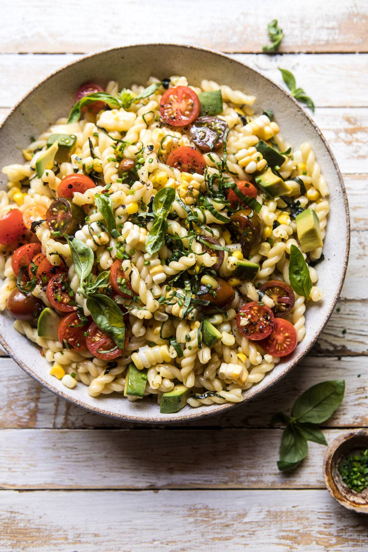 Corn Tomato And Avocado Pasta Salad Half Baked Harvest