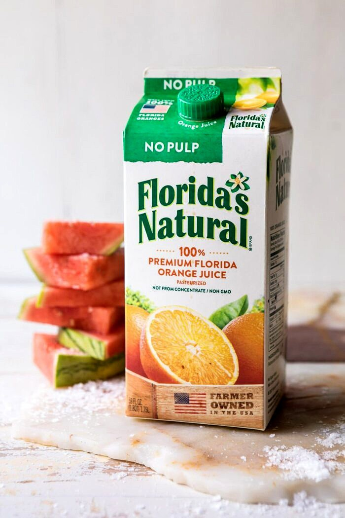 Florida's natural orange juice carton