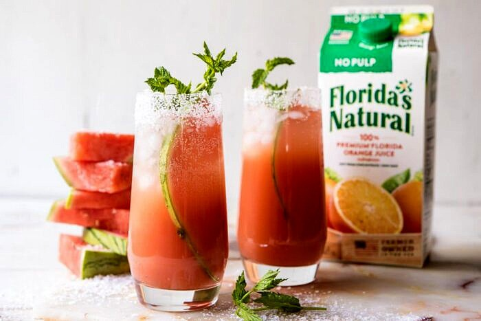 horizontal photo of Salted Watermelon Paloma
