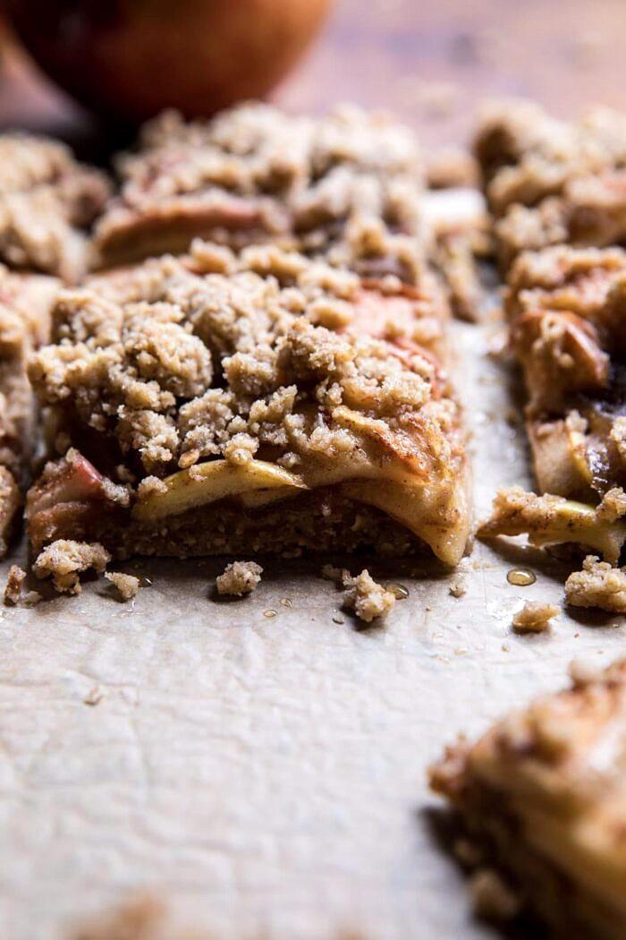 side angled photo of Double the Streusel Apple Butter Bars