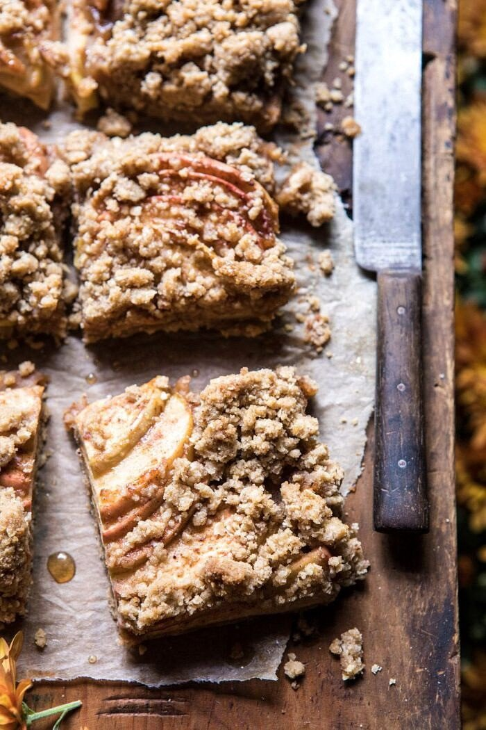 3 quarters angled photo of Double the Streusel Apple Butter Bars