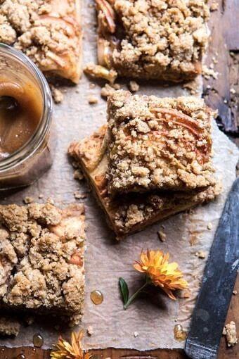 Double the Streusel Apple Butter Bars | halfbakedharvest.com #apples #fallrecipes #applebutter #applebars