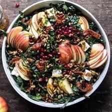 Fall Harvest Honeycrisp Apple and Kale Salad.