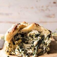 Herbed Spinach and Artichoke Pull Apart Pretzel Bread.