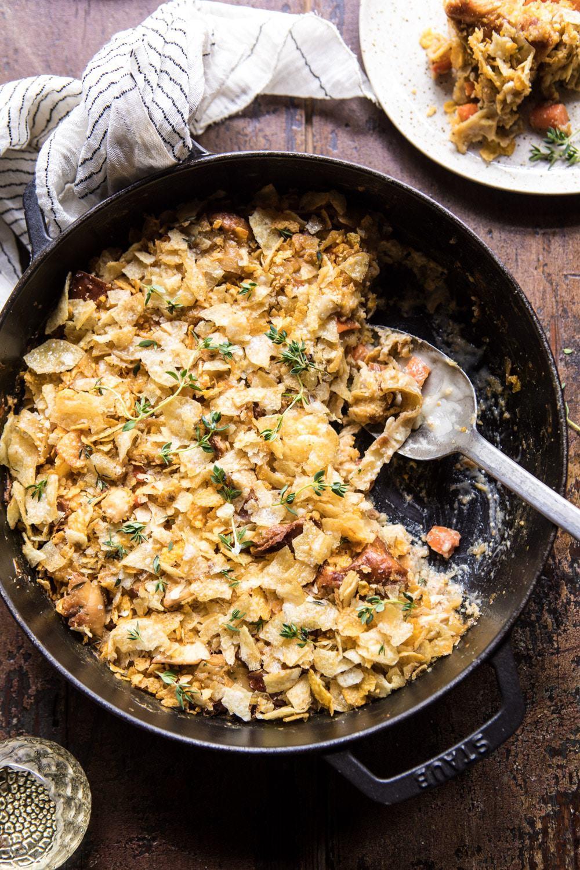 Homemade Chicken Noodle Casserole | halfbakedharvest.com #chicken #familyrecipes #easyrecipes #casserole
